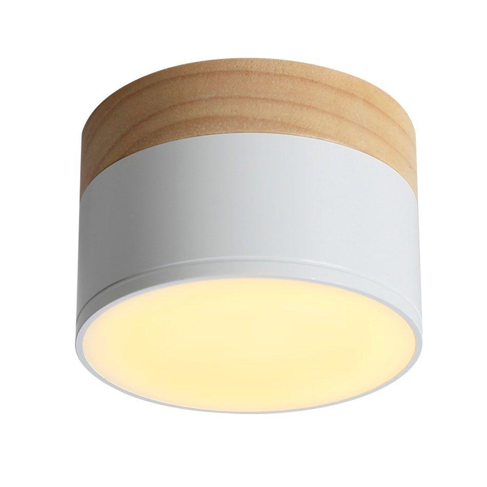LED 3W 5W Ceiling Spotlight Ceiling Lamps Lighting Fixtures LED Aluminum Downlight Spotlight Modern Wood Living Light