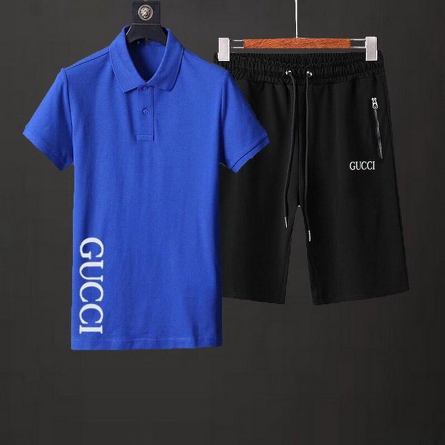 Vendita calda Collare Maniche corte Maglia modello Jogger Set T-shirt pantaloni Set Men del progettista di marca del vestito sportivo Sport Plus Size M-3XL