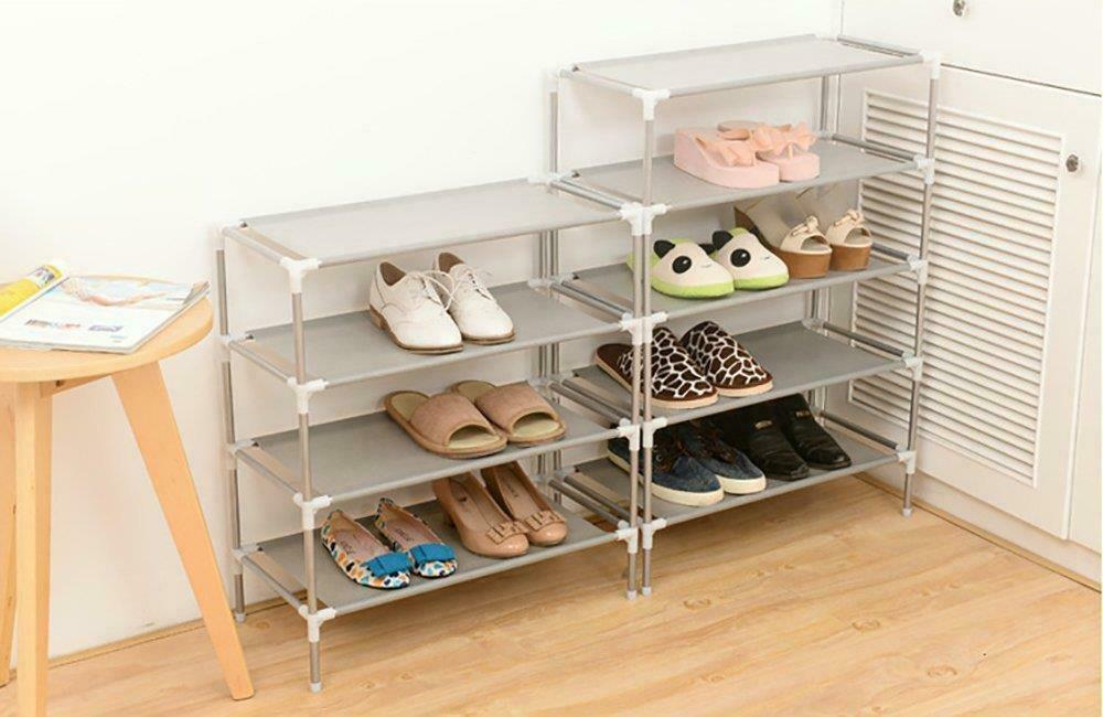 3 Tier Schuhe Rack-Ständer-Speicher-Organisator Stoff Regalhalter stapelbare Closet