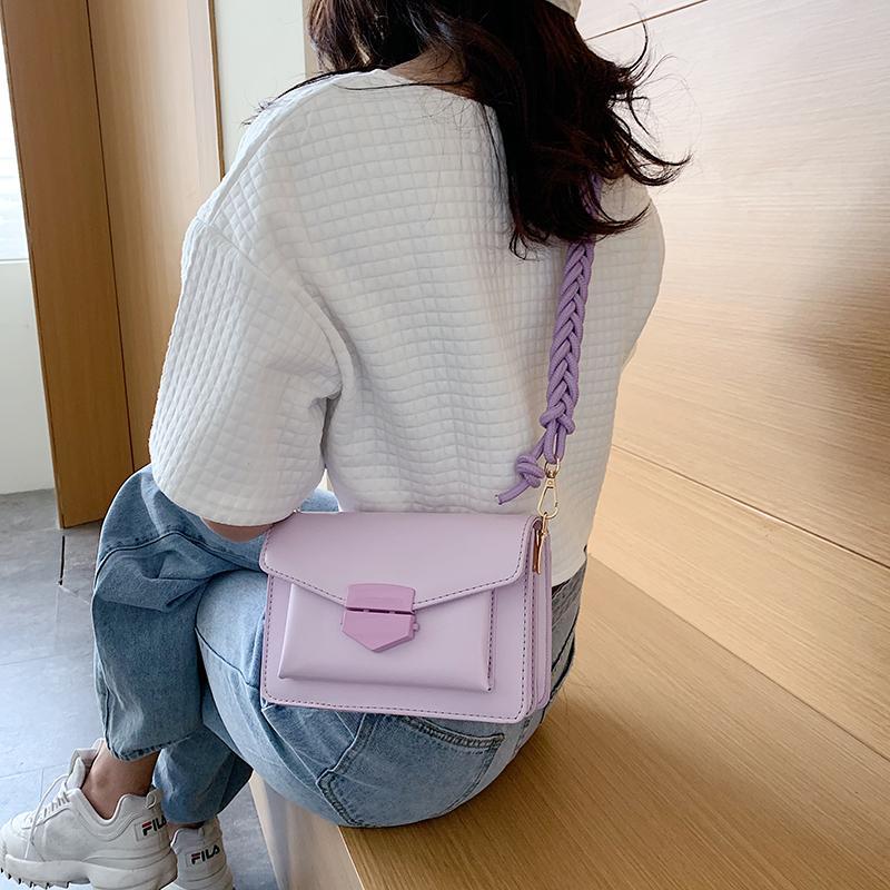 Pelle A SAC Summer PU 2021 Main Casual Crossbody Bags per le donne Colore Nuova Catena Catena Small Designer Borse a spalla Borse Solid Femme Femme B MMVA