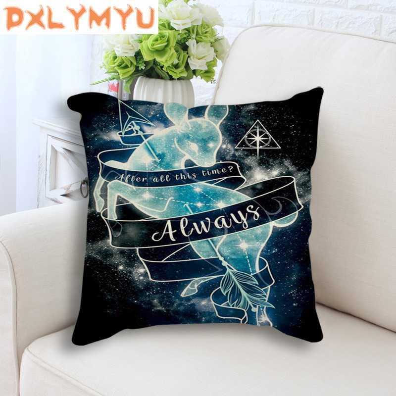 Nordic Pillowcase Totoro Anime Constellation Linen Decorative Cushion Cover for Sofa Bed Home Decor Throw Pillow