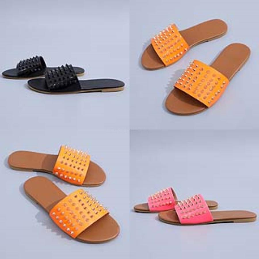 Sandalias Mujer 2020 Summer Soes Women Deners Block Eel Soes Men Wee Slippers Ladies Flat Multicolor Plus#946#315
