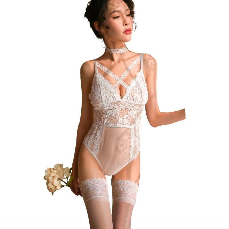 UnlyW 7860 sexy lace lingerie jumpsuit lingerie set perspectiva dobrável sexy lace produto paixão flertando coquete feminino MoMu