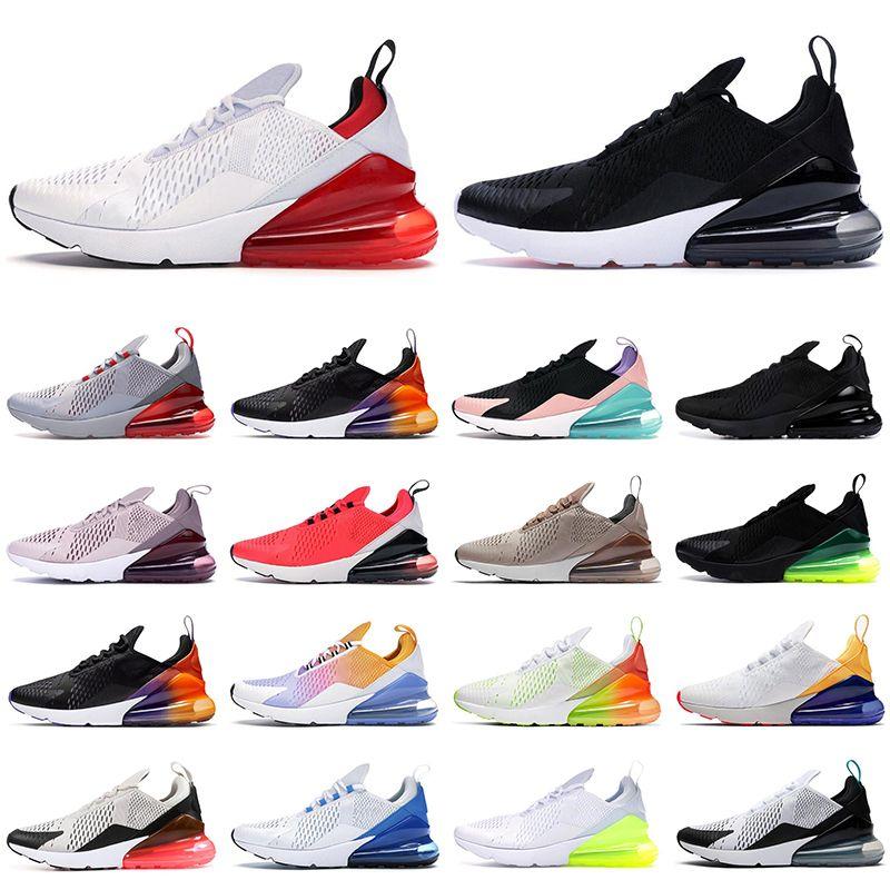 Новые 270 кроссовок для мужчин и женщин Bred rainbow Black Gradient CACTUS University Red BARELY ROSE мужские спортивные дышащие спортивные кроссовки