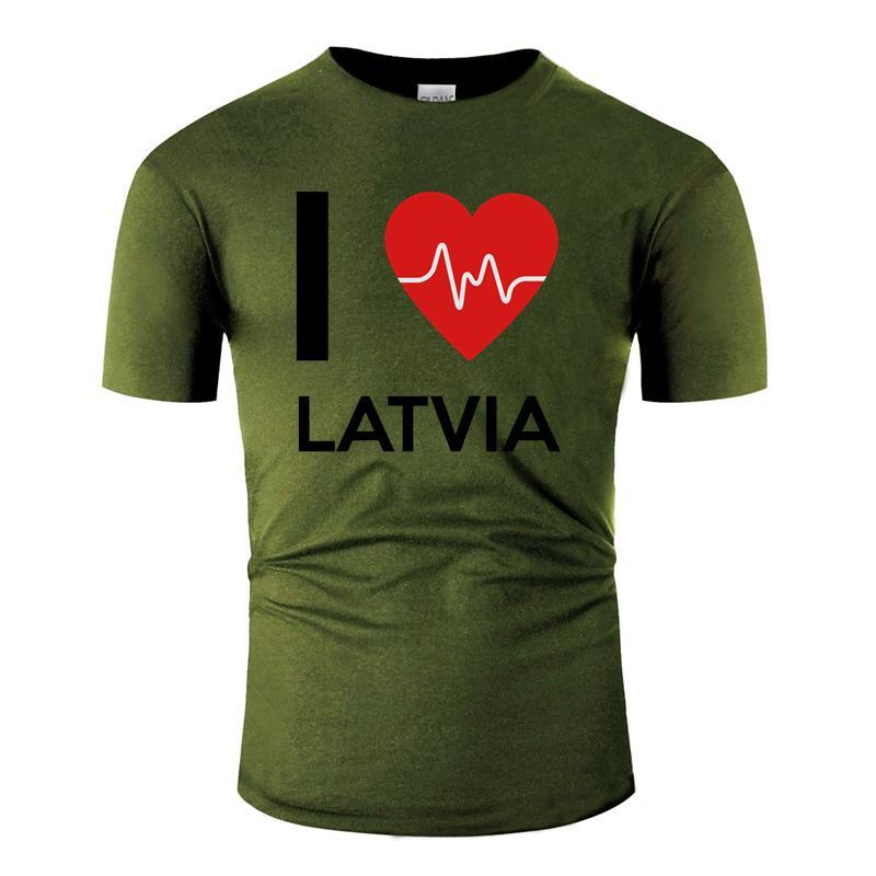 Letonia T Amor clásico de la novedad I camisa de los hombres de las mujeres 2020 Impreso gran tamaño S ~ 5XL de manga corta camiseta de los hombres Ropa cómica de Inicio