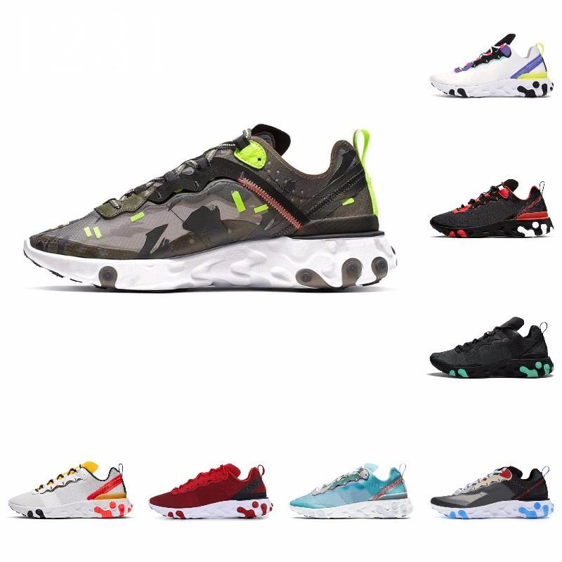 Erkekler Kadınlar vurgulanan için Ayakkabı Koşu Erkekler ayakkabıları Senaryo Undercover Eleman Mens # 07-125 Dikişler Siyah beyaz Eğitmen Spor Sneakers 87 S Taped