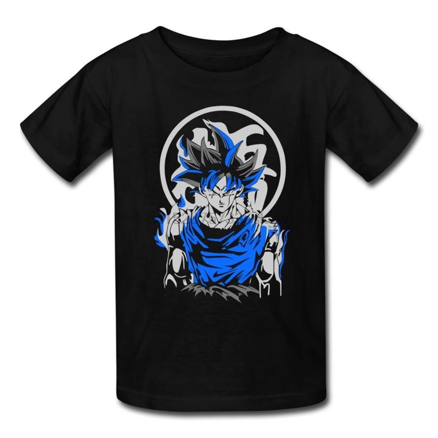 Mavi Goku Super Saiyan Dbz Fan Gömlek Anime Çocuk Tişört Tee Gömlek Grafik Komik