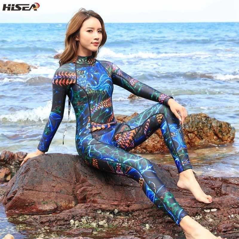 3 mm 50 ++ Néoprène élastique néoprène femmes maillot de bain une pièce Natation Surf Costume Spearfishing Sport Extreme chaud combinaison de plongée sous-marine