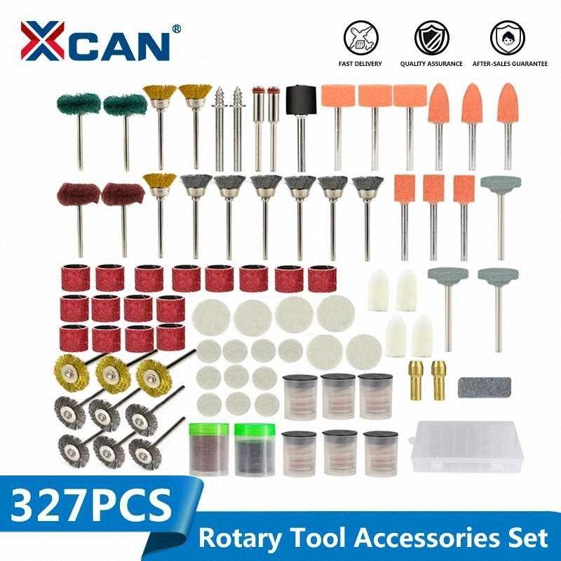 Herramienta rotativa XCAN Kit de accesorios 327pcs 1/8 '' (3,175 mm) Vástago Lijado Pulido Rectificado Sistema de herramienta Dremel Herramientas rotativas l3BH #