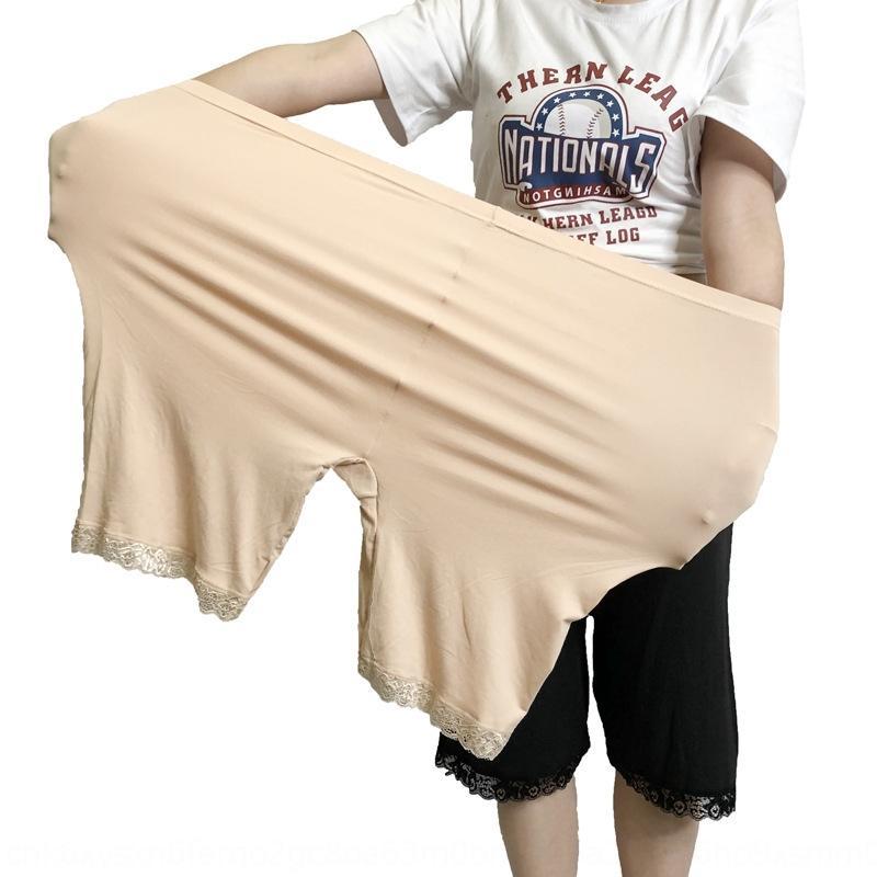 u3DMw стрейч летних Tight безопасности брюки женщин Большого размер 300кга новых штаны безопасности кружево пяти пунктов против воздействия жира ММ леггинсы большого размера