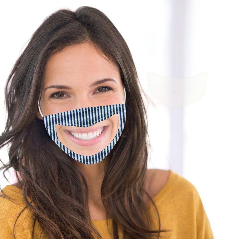 Nuovo puro cotone trasparente della maschera di protezione del camuffamento riutilizzabile lavabile maschere antipolvere antiappannamento Chiaro Maschera Viso Designer
