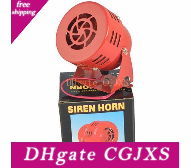 Song Dc 12v 3inch Automotive Air Raid Siren Horn Car Truck Motor Driven Alarm Red Universal Car Horn For Pickup Truck Horns Alarms