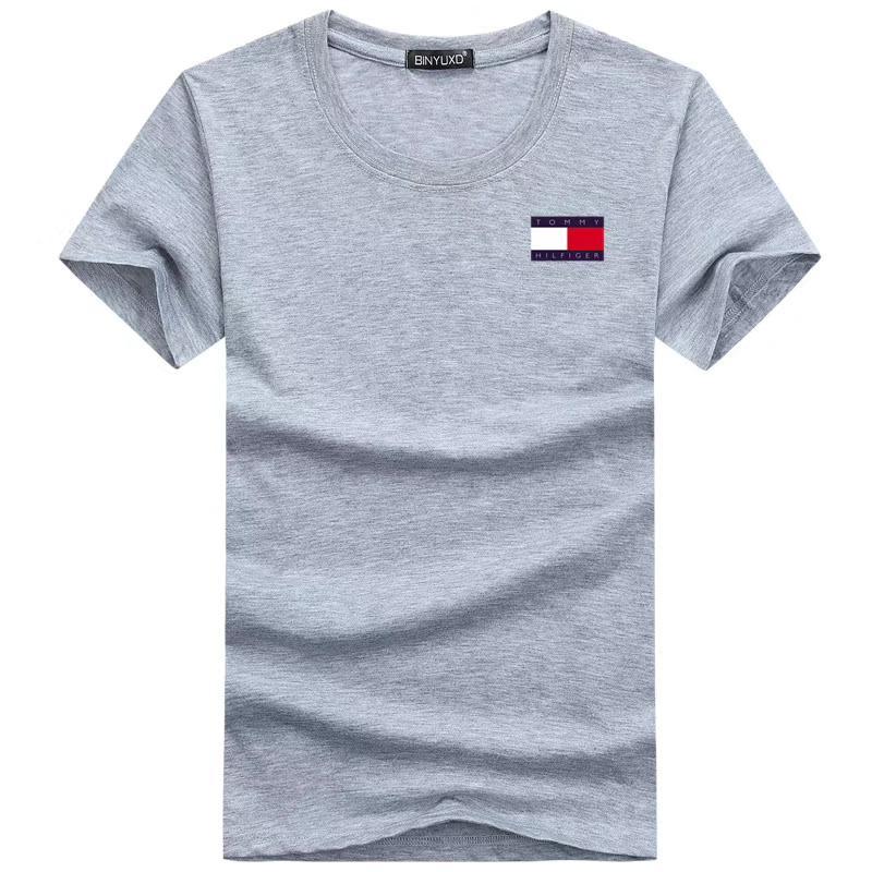 CUSTOM elaborado el Hombres 100% camiseta de algodón nuevos manera del estilo BIG tamaño de impresión personalizada en el DEMAND TOPS TEES CON HFCMT052 propio diseño