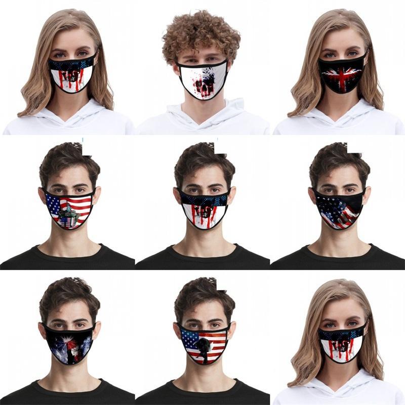 أقنعة الوجه القماش الأسود قابل للغسل قناع التنفس الأزياء الولايات المتحدة الأمريكية أعلام الجمجمة Mascarilla Reuseable الاطفال الحرية Goddes 2 2zj C2