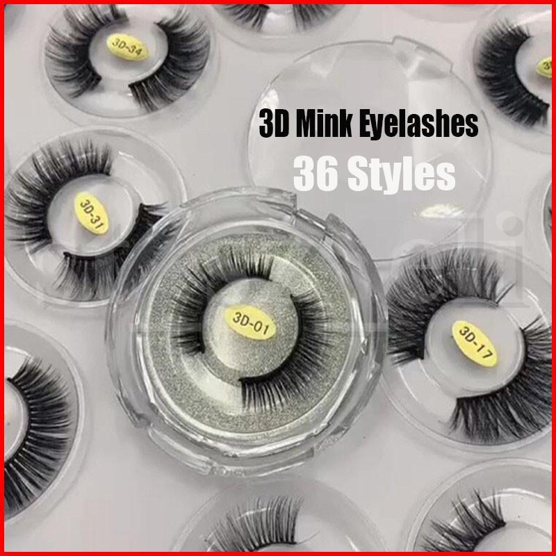 36 Styles 3D Mink Reusable False Eyelashes Fake Eyelash Makeup Long Individual Eye lashes Natural Lashes Extension