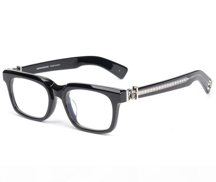 Chrome Frame Marca marco de los vidrios de moda retro vidrios ópticos de las lentes Hombres Mujeres miopía gafas de diseño Gafas con la caja original