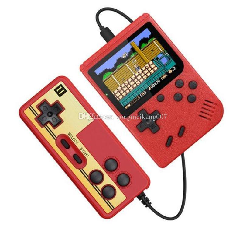 Мини Двойные портативные игровые приставки Ретро Портативные видеоигры Консоль 400 8 бит 3,0 дюйма красочные ЖК-дизайн Cradle