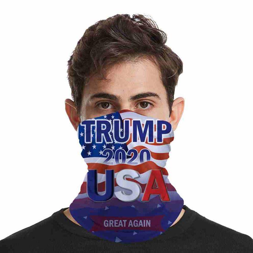 2020 Trump maschera di protezione lavabile elezioni americane di stampa antipolvere Maschere Maschere Outdoor Ciclismo Magia Sciarpe Designer partito CYZ2571 200Pcs