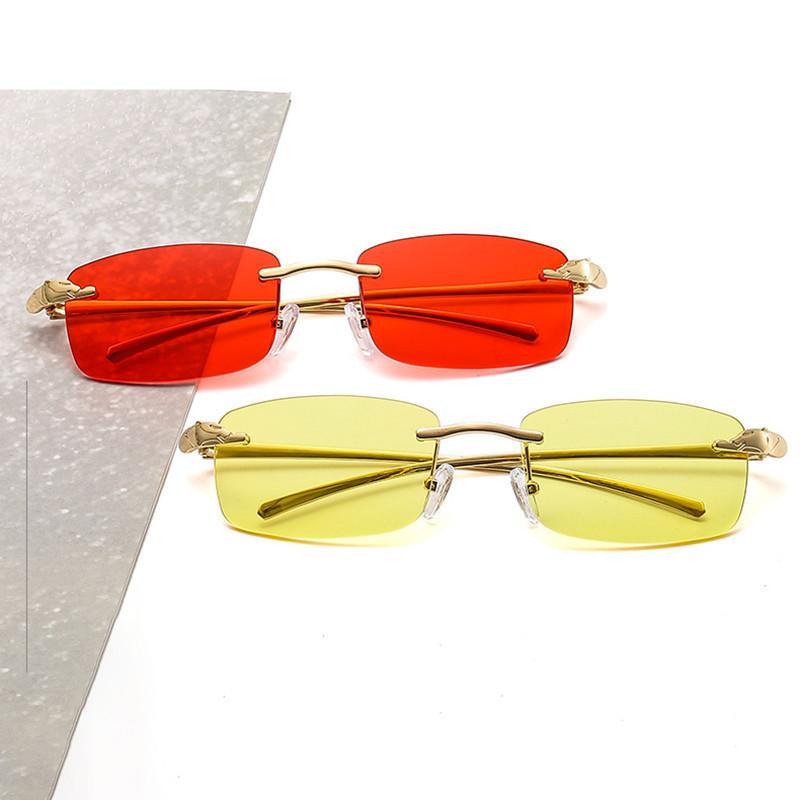 Çerçevesiz Moda Dikdörtgen Güneş Gözlüğü Gözlük 2020 Küçük Güneş Gözlüğü Lens Erkekler Alaşım Metal Sun UV400 Klasik Kadınlar Jvnor