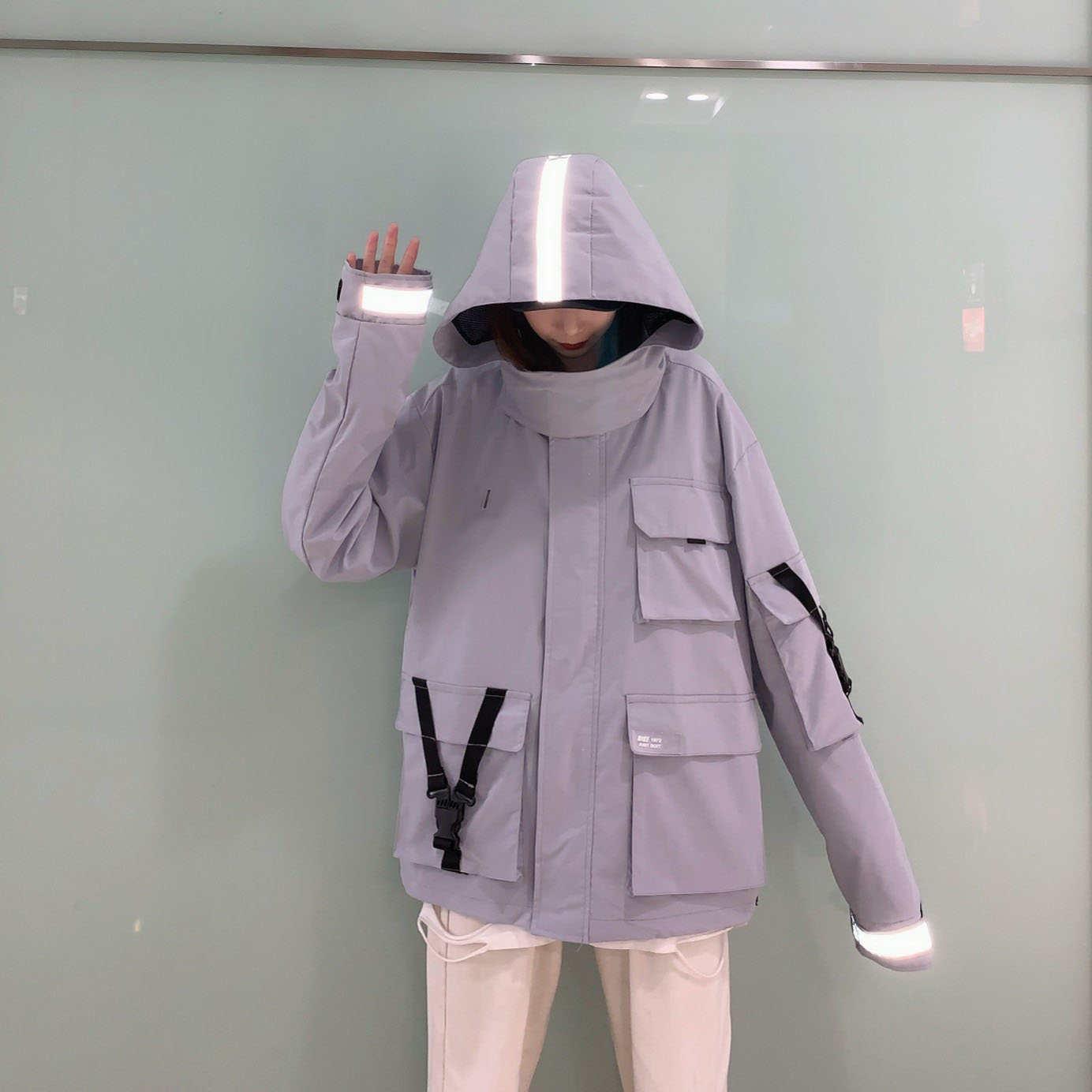 Tops Marke Damenjacke mit Kapuze Art und Weise F / S Frauen Designer-Jacken mit Brief gedruckt Luxus Reflective Hoodie Mäntel 2 Farben YF203062