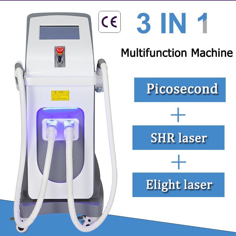 Multifuction pikosaniyelik lazer dövme silme makinesi profesyonel OPT SHR lazer epilasyon ekipman 2 yıl garanti