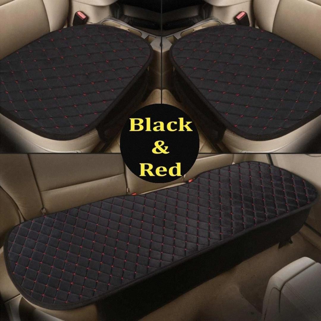 1 Set di sedi dell'universale 5 calda inverno Car Seat Cover per velluto peluche cuscino del sedile anteriore posteriore posteriore dell'automobile di sedia protezione del rilievo nmgl #