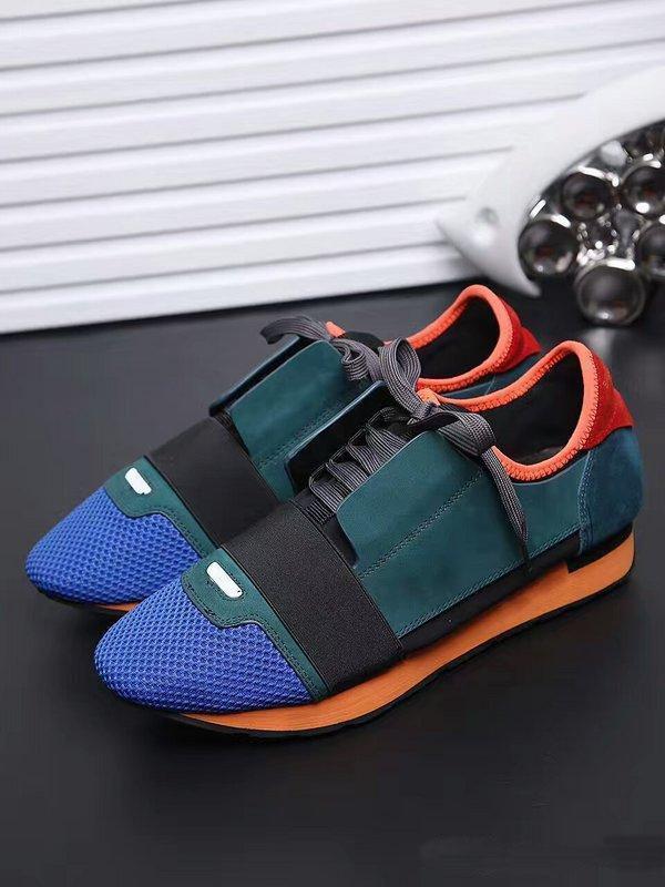 Sapatos de grife sapatos casuais mens 2019 NOVO marca barata FASHION FLATS CORREDORES RACER sapatos de luxo Womens z23