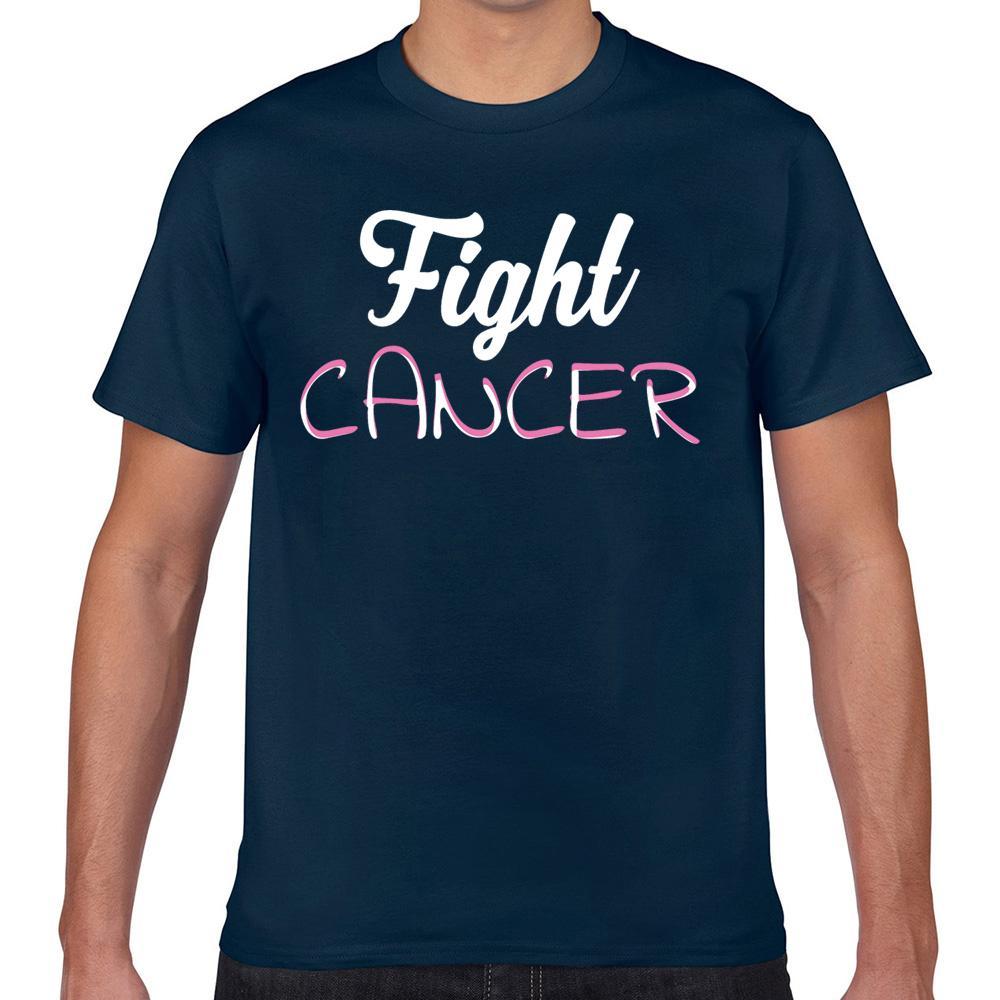 Tops T-Shirt Männer-Krebs-Kampf Krebs Humor weiß Kurz Male T-Shirt