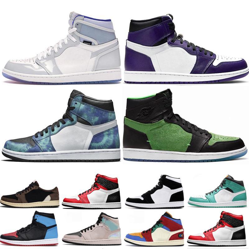 Мужчины-1s Баскетбол обувь Tie Dye Ярость Green Бред Bloodline UNC Чикаго верхних 3 Мужские Женские Кроссовки спортивных Кроссовки Обувь