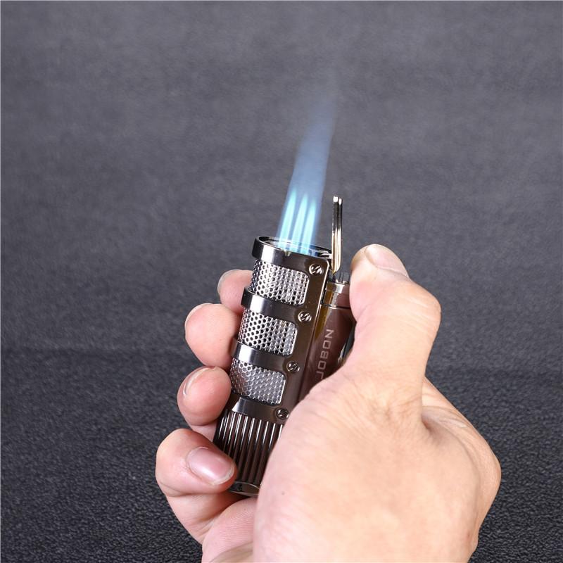 흡연 액세서리 높은 학년 금속 가스 라이터 전자 라이터 세 터보 라이터 큰 화력 시가 라이터