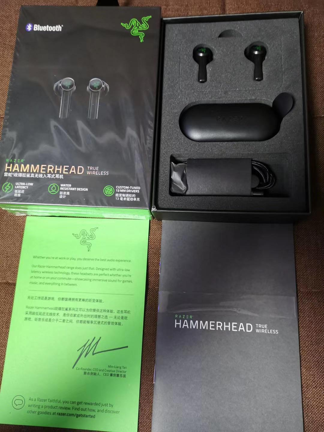 Razer Hammerhead True Wireless Earbuds Headphones Wireless Earphones In Ear Sport Headsets A+ Quality For Game earphone
