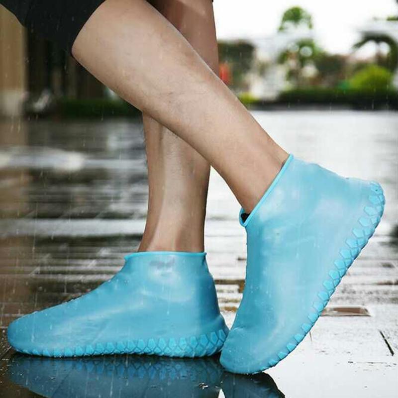 Su geçirmez Ayakkabı Kapak Silikon Malzeme Ayakkabılar Koruyucular Yağmur Botları Kapalı Açık Yağışlı Gün boyunca 25-45 Yard Seç