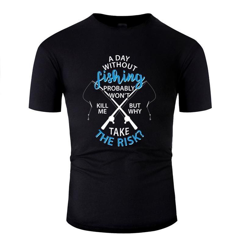 Personalizzato traspirante pesce del pescatore di pesca lago per la pesca da pesca t-shirt unisex 2019 Famiglia degli uomini della maglietta di cotone rotonda Collare HipHop Top
