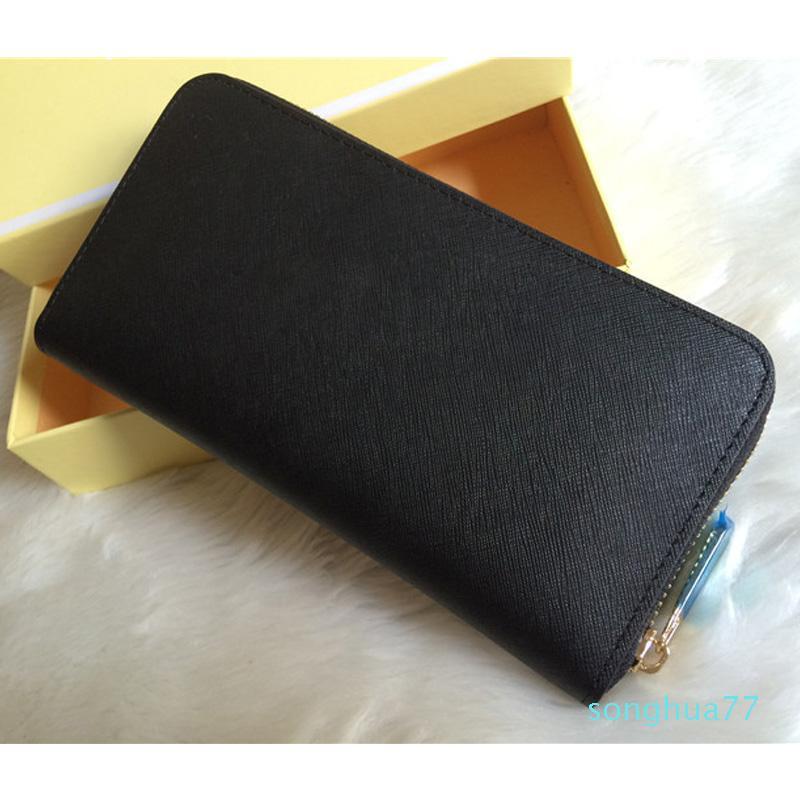 diseñador-mujer señoras del cuero genuino bolso de alta calidad a largo sola cremallera carteras modelo de la cruz 008 del monedero con la tarjeta de la caja blanca
