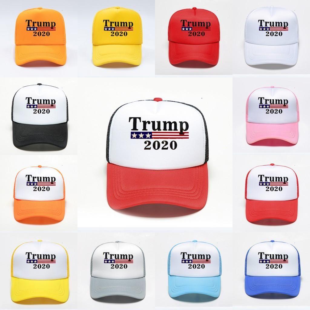 Stock US, DHL navire, coton réglable Respirant Hat Trump 2020 Président Élection Baseball Casquette Outdoor Femme Homme Casquettes FY6076