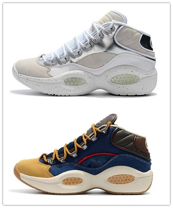Середина Q1 Баскетбол Ответ 1S Увеличить работает дизайнер Аллен Айверсон Вопрос роскоши Elite Спортивная обувь Мужская спортивная обувь кроссовки обувь EU40-45