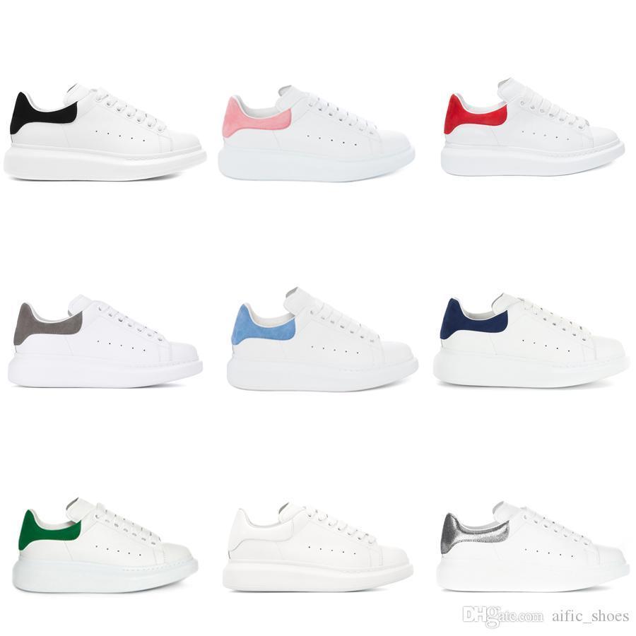 Designer Mens Womens Luxo Branco sapatos de couro plataforma plana Casual Shoes Lady Muffin Sports Sneakers homem da aptidão Casual Sapatos