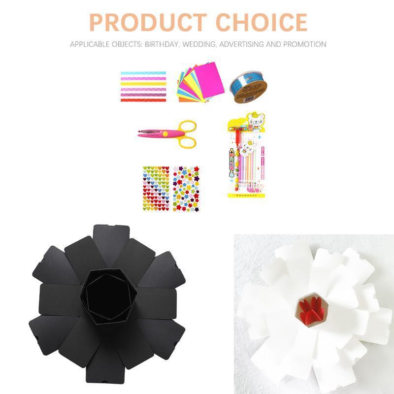 Creative Hexagon Explosion Box Memory Scrapbook DIY Photo Suprise Box Anniversary Valentine's Day Girl Love Gift