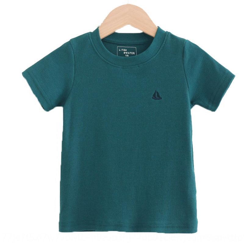 todo-o jogo de tBJFl Crianças de manga curta Verão 2020 estilo coreano algodão meninos jaqueta jaqueta' round colarinho T-shirt bebês T-shirt jaqueta 121