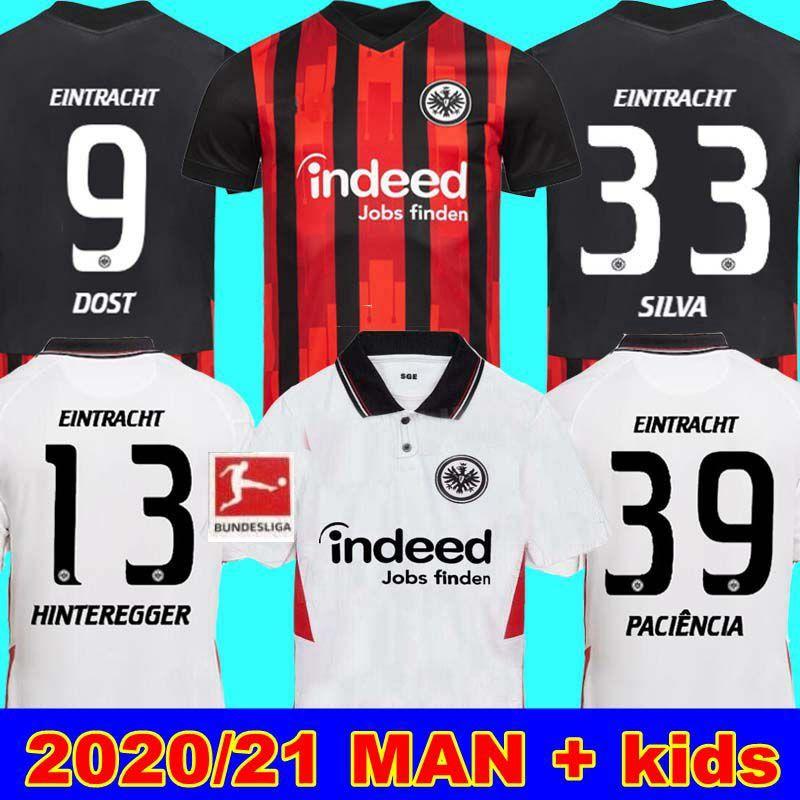 20 21 اينتراخت فرانكفورت لكرة القدم الفانيلة 2020 2021 فرانكفورت المنزل بعيدا SILVA DOST HINTEREGGER PACIÊNCIA ABRAHAM MAN الفانيلة كرة القدم للأطفال
