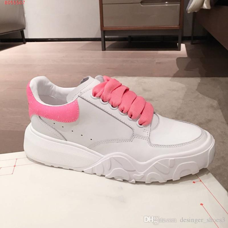 zapatos casuales 2020 nueva moda y contratados de última moda de pequeñas damas zapatos de suela de goma blanca rosa de color azul y naranja Diseño del mosaico