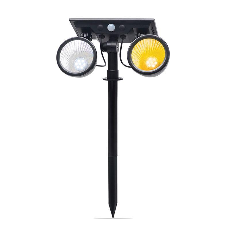 Umlight1688 2020 NEW HOT 14LED 2 in 1 Solar lawn Lamp Dual color Solar Lawn Lights PIR Sensor Outdoor solar Garden Spot Floodlight