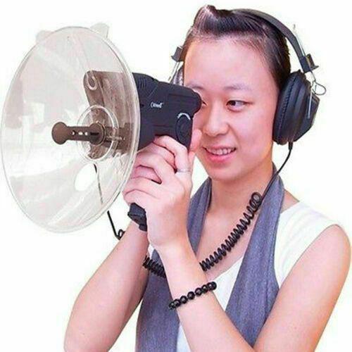 micrófono parabólico hasta 300 pies de larga distancia telescopio de observación de la naturaleza oído biónico