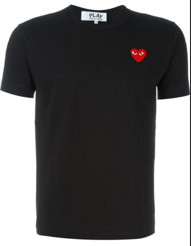 Yaz vetements8 için com-MES erkek tasarımcı tişörtleri KAPALI ile Kalp spor tee Gömlek des Garçons Beyaz Pablo şerit Gömlek