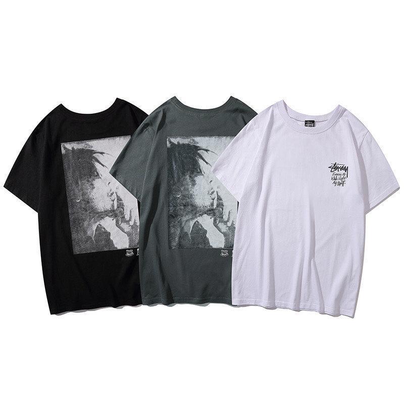Высокое качество 2020 модный бренд Stony Regan короткий рукав круглый воротник свободно футболки мужчин и женщин пары 1