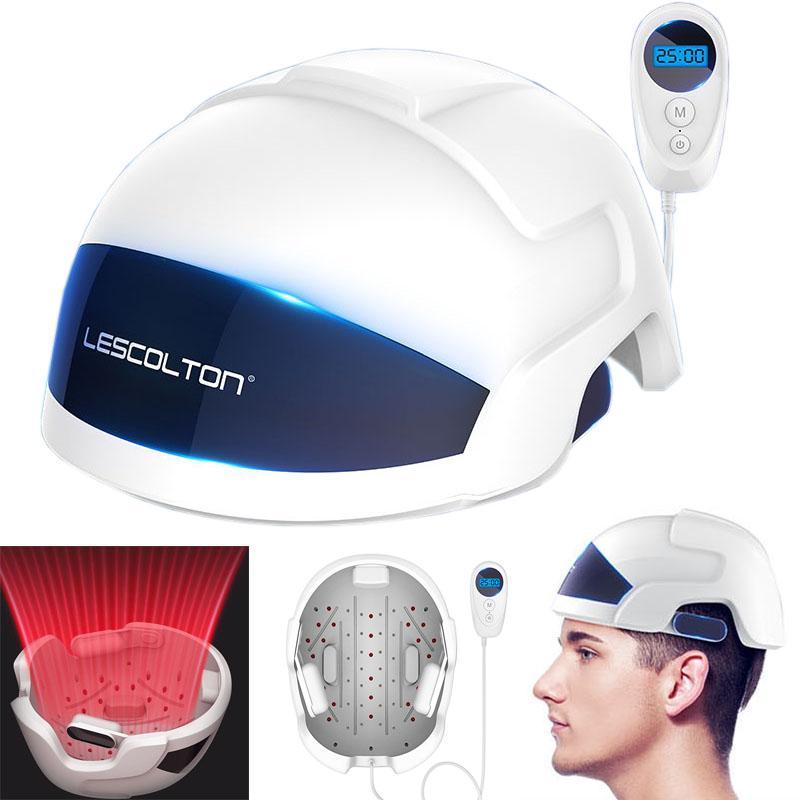 Regenerar el cabello LED de luz infrarroja Casco rápido crecimiento del pelo Cap pelos Pérdida Solución Para Hombres Mujeres LLLT Láser tratamiento para el cabello sombreros