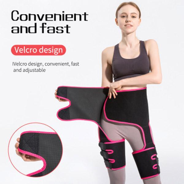 3-in-1 sport réglables hanche de la ceinture de levage corset jambières avec ceinture