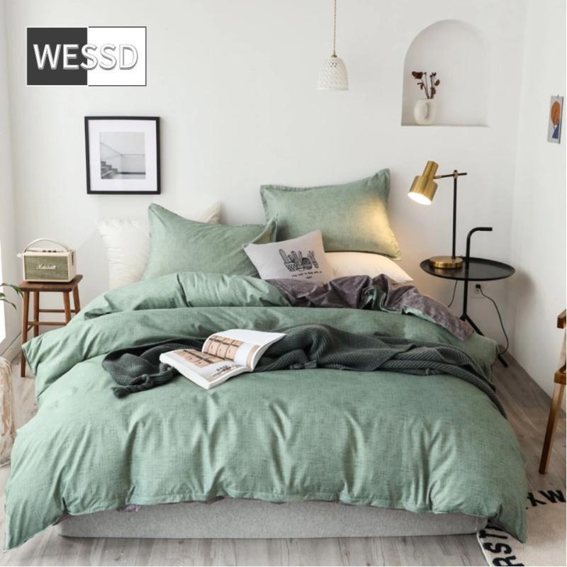 2020 الأعلى ترويج الأزياء لا يوجد مؤهل غطاء لحاف الضوء نسيج نمط الحجم الصلبة أب ضعف الجانب مطبوعة سرير الكتان واحدة