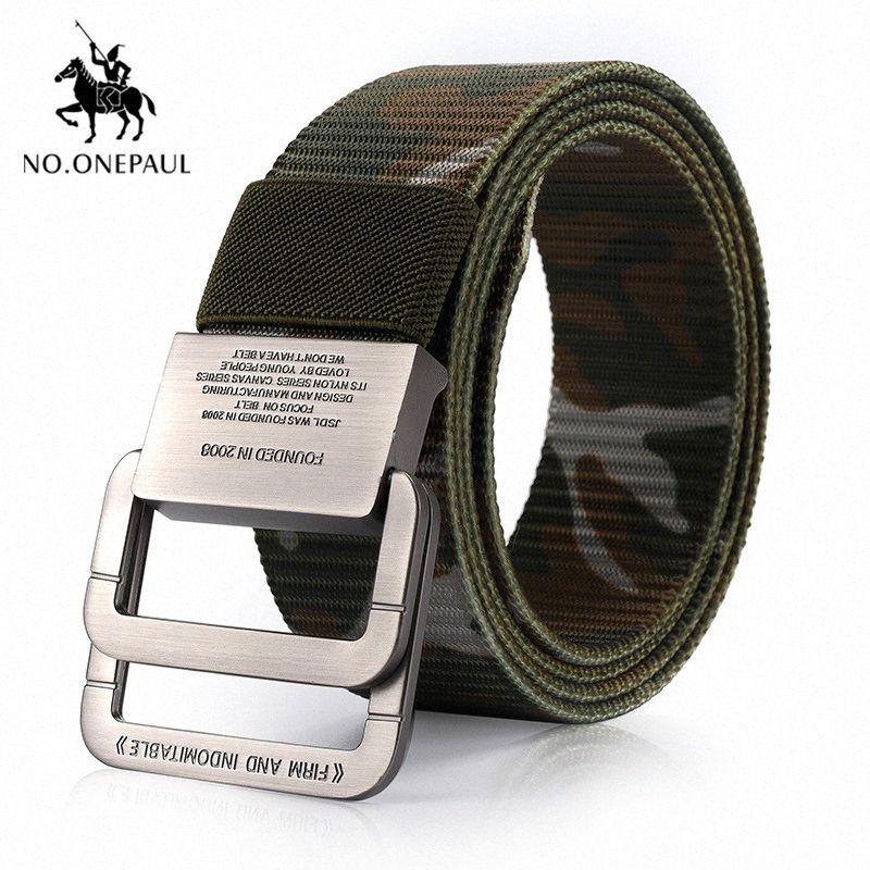 NO.ONEPAUL Mens Tactical Belt Outdoor Sports Hook Metal Buckle Tactical Belt High Quality Nylon Training Belts Men Wedding Belts Web B oWjq#