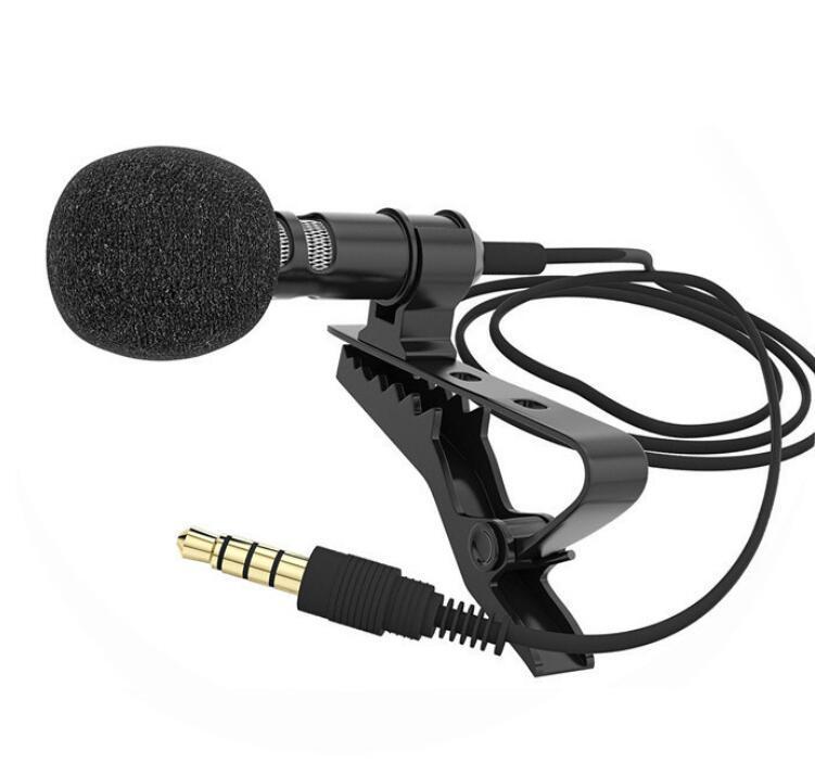 Mini Jack de 3,5 mm micrófono de corbata del lazo del clip de Micrófonos Mic para Microfono Hablando de 1,5 m de voz Conferencias Cable Largo envío